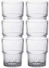Duralex 6x Koffie/espresso Glazen Empilable Transparant 160 Ml - Whiskey Glazen Van Glas 160 Ml