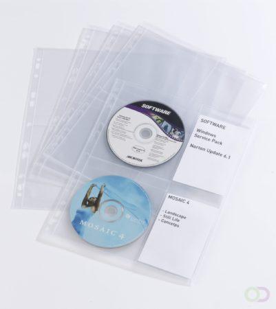 Afbeelding van Durable 523819 4-voudig CD/DVD-ordnerhoes 4 CDs/DVDs/Blu-rays Polypropyleen Transparant 10 stuk(s)