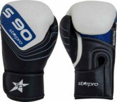 Leren bokshandschoenen Starpro S90 | zwart-wit-blauw 10 oz