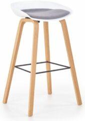 Home Style Barkruk Inno 81 cm hoog in wit met grijs