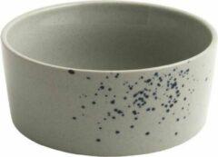 Lichtblauwe D&M Deco OSKAR Lea bowl ø15,5 cm - set of 4 - sky / D15.5