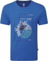 Dare 2B Stringent Grafisch T-Shirt Met Korte Mouwen Voor Heren Marineblauw