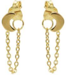 Karma Jewelry Karma Oorbellen Chain Moon Goud