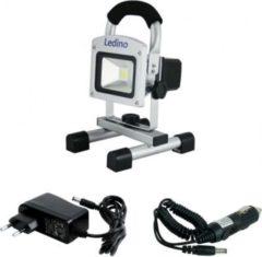 Ledino 10 W LED-Akkustrahler mit Li-Ionen Akku 5.2 Ah, dimmbar