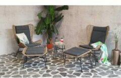 SenS-Line Milan loungestoel + voetenbank - zand