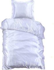 Beauty Silk - Dekbedovertrek Satijn - Wit - 140x200/220