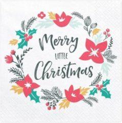 PartyDeco Servetten - Merry Christmas
