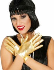 FIESTAS GUIRCA, S.L. - Korte goudkleurige metallic handschoenen voor vrouwen - Accessoires > Handschoenen