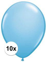 Lichtblauwe Qualatex ballonnen baby blauw 10 stuks