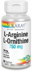 Solaray L-Arginine L-Ornithine 750 mg 50 Vegetarische Capsule