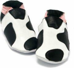 Baby Dutch babyslofjes koeienprint roze