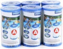 Blauwe Viking Choice Zwembad filters 6 stuks - Intex type A pomp - vervangingsfilters