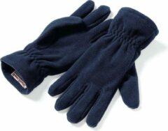 Marineblauwe Beechfield - Unisex Suprafleece Anti-Pluis Alphine Winterhandschoenen (Navy)