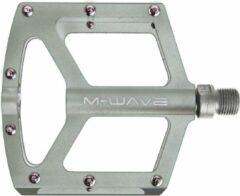 Grijze M-wave Platformpedaalset Freedom Sl Bmx 9/16 Inch Titanium