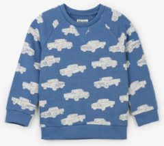 Blauwe Hatley Sweater Trucks maat 122