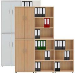 5-tlg Aktenregal Set Büro Schrank Regal Büroschrank Aktenschrank Sideboard Omegos 888 VCM Buche