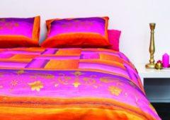 Roze SENZATIONE 100% Katoen Percaline Dekbedovertrek 140x240-1x60x70 cm LUXOR ROSE