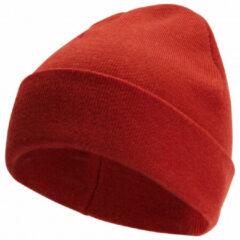 Rode Woolpower Beanie Classic - Autumn Red - 70% Merinowol - Jeukt niet - Heerlijk warm!