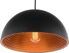 Groenovatie Lyon Vintage Industrieel Design - Hanglamp - Koper - Ø 40 cm - Zwart