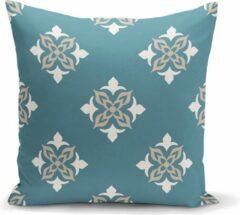 Beige Zijou Decoratieve sierkussen speciaal ontwerp met geometrisch motief- Binnen of Buiten kussen 45x45cm