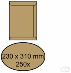 Office Envelop akte 230x310mm zelfklevend 90gr bruin 250stuks