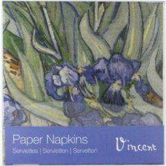 Rode LANZFELD Papieren Servetten, Irissen, Van Gogh