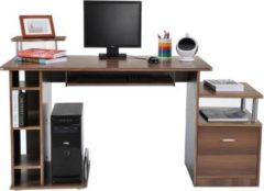 HOMCOM Computertisch mit ausziehbarer Tastaturhalterung Schreibtisch Bürotisch Computerschreibtisch Tisch