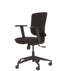 Zwarte SKEPP RoomForTheNew Bureaustoel 010- Bureaustoel - Office chair - Office chair ergonomic - Ergonomische Bureaustoel - Bureaustoel Ergonomisch - Bureaustoelen ergonomische - Bureaustoelen voor volwassenen - Bureaustoel ARBO - Gaming stoel - Thuiswer