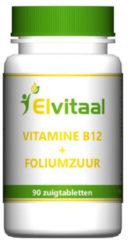 How2behealthy Elvitaal Vitamine B12 1000µ + foliumzuur - 90 Tabletten - Vitaminen