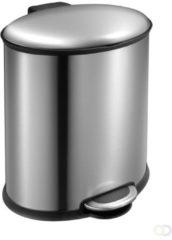 Grijze EKO Elipse Step Bin - 20 liter - Mat RVS