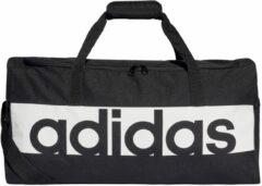 Zwarte Adidas Performance Adidas Linear Performance Medium Sporttas - Black/White/White