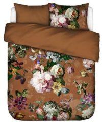 Essenza Home dekbedovertrek flanel Fleurel leather brown - lits jumeaux (240x200/220 cm incl. 2 slopen)