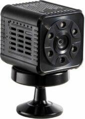Zwarte Topsjop.nl Mini Wifi IP Bewakingscamera. FullHD 1080P, met nachtvisie, bewegingsdetectie en App.