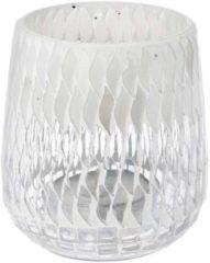 Riverdale - Sfeerlicht Mel wit 12cm Wit Glas