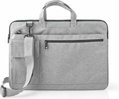 Grijze Nedis Notebook-Tas   17 - 18   Riem dragen   8 Compartimenten   30 mm   320 mm   460 mm   Polyester