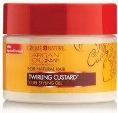 Creme Of Nature- Argan Oil- Twirling Custard - Gel - Krullend Haar- 340gr