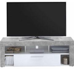 Grijze FMD TV-meubel VIBIO 1, breedte 150 cm