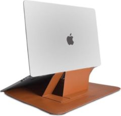 WIWU Alita MacBook Pro Sleeve - 15.4 inch - Slim Stand Macbook Standaard - Bruin