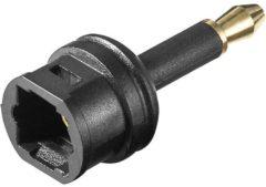 Goobay Toslink Digitale audio Adapter [1x Optische stekker 3.5 mm - 1x Toslink-bus (ODT)] 0.00 m Zwart