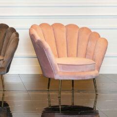 Richmond Interiors Richmond Fauteuil 'Perla' Velvet, kleur Roze