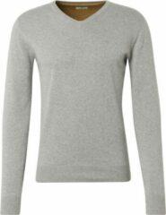 Grijze TOM TAILOR Eenvoudige gebreide trui, Light Soft Grey Melange, L