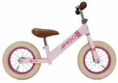Amigo Loopfiets Step Loopfiets Met 2 Wielen 12 Inch Meisjes Roze