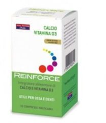 Vital factors italia Reinforce Calcio e Vitamina D3 Integratore Alimentare 30 Compresse