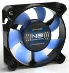NoiseBlocker BlackSilent XS1 PC-ventilator Zwart, Blauw (doorschijnend) (b x h x d) 50 x 50 x 10 mm