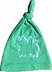 Anha'Lore Designs - Hazel - Babymuts - Groen/lichtblauw