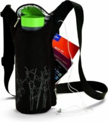 Zwarte Aladdin - koeltas voor drinkfles - Lotus Sling Bag