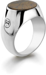Rebel & Rose Rebel and Rose RR-RG0003-S Ring Round Lapis zilver-bruin Maat 69