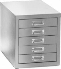 Albeka Multiladenkast 5 laden - Aluminium - 28 x 42 Cm - 32 Cm Hoog - Ladekast - Afgewerkt met krasvaste poedercoating