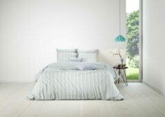 Mistral Home - Dekbedovertrek - 100% katoen - 200x200+2x65x65 cm - Met flessenhals - Twill - Lichtgroen