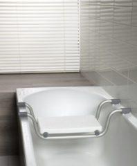 Licht-grijze Allibert USIS badzitting voor bad - RVS - lichtgrijs - 74 cm breed